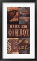 Ride Em Cowboy Framed Print