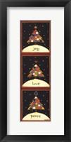 Framed Christmas Tree Trio