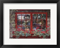 Framed Window with Flowers I