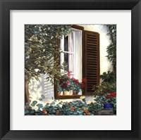 Framed Window with Flowers II