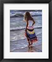 The Striped Skirt Framed Print