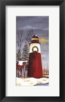 Framed North Shore Lighthouse