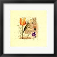 Framed Flower Notes with Orange Tulip