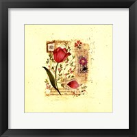Framed Flower Notes with Purple Tulip