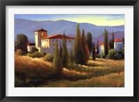 Framed Blue Shadows in Tuscany I