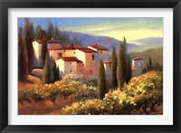 Framed Blue Shadows in Tuscany II