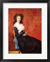 Framed Portrait of Madame Charles-Louis Trudaine