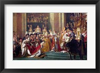 Framed Consecration of the Emperor Napoleon I Detail