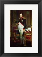 Framed Napoleon Bonaparte