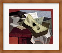 Framed Guitar and Newspaper, 1925