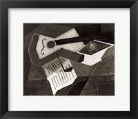 Framed Guitar and Fruit bowl, 1926