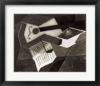 Framed Guitar and Fruit bowl, 1926