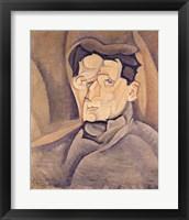 Framed Portrait of Maurice Raynal