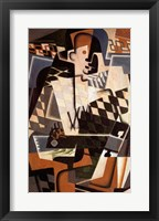 Framed Harlequin with a Guitar, 1917