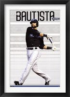 Framed Blue Jays - J Bautista 11