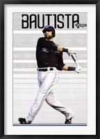Framed Blue Jays - J Bautista 11