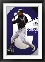 Framed Rockies - C Gonzalez 11