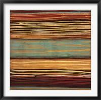 Framed Seaside Stripes II
