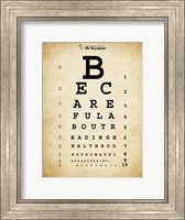 Framed Mark Twain Eye Chart