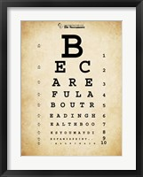 Framed Mark Twain Eye Chart