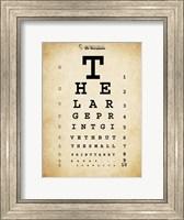 Framed Tom Waits Eye Chart