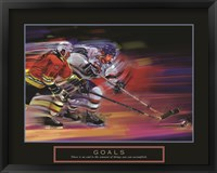 Framed Goals - Hockey