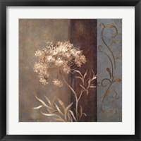 Delicate Beauty in Blue II Framed Print
