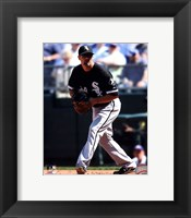 Framed Paul Konerko 2011 Action