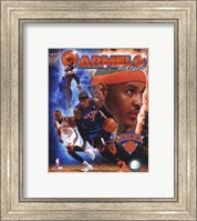 Framed Carmelo Anthony 2011 Portrait Plus