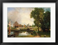 Framed Dedham Lock and Mill, 1820