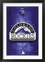 Framed ROCKIES - LOGO 11