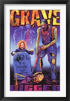 Framed Black Light - GRAVE DIGGER