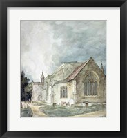 Framed East Bergholt Church, c.1805-11