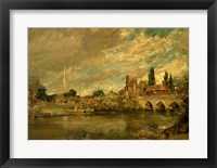 Framed Bridge of Harnham and Salisbury Cathedral