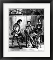 Framed Mephistopheles and the Pupil, from Goethe's Faust