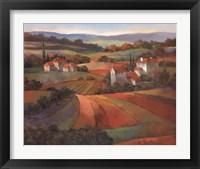 Framed Tuscan Sunset