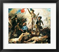 Framed Study for Liberty Leading the People