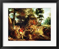 Framed Wild Boar Hunt