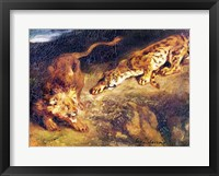 Framed Tiger and Lion