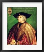Framed Emperor Maximilian I