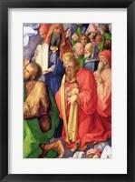 Framed Landauer Altarpiece: King David, 1511, Detail