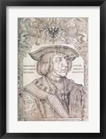 Framed Maximilian I, Emperor of Germany