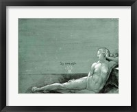 Framed Reclining female nude, 1501