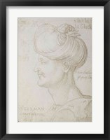 Framed Head of Suleyman the Magnificent