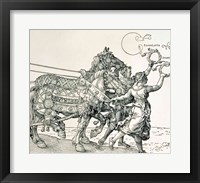 Framed Triumphal Chariot of Emperor Maximilian I of Germany: horse detail