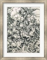 Framed Four Horsemen of the Apocalypse, Death, Famine, Pestilence and War