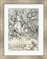 Framed St. Michael Battling with the Dragon from the 'Apocalypse'