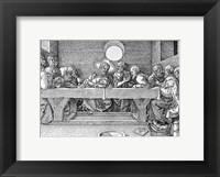 Framed Last Supper, pub. 1523