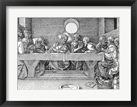 Framed Last Supper, pub. 1523