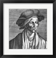 Framed Portrait of Joachim Patinir, 1521
